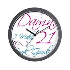 21st Birthday Humor Wall Clock