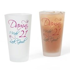 21st Birthday Humor Drinking Glass