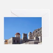 Greece, Crete. Moni Gonias Monastery Greeting Card