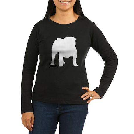 White Bulldog S Women's Long Sleeve Dark T-Shirt