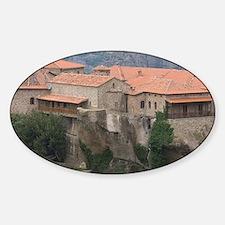 Greece, Meteora. Overview of Varlaa Sticker (Oval)