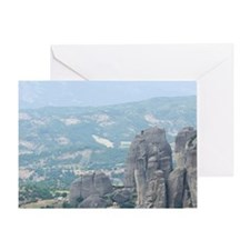 Meteora. Agias Varvaras Rousanou Mon Greeting Card