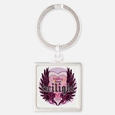 breaking dawn twilight heart wings Square Keychain