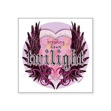 "breaking dawn twilight hear Square Sticker 3"" x 3"""