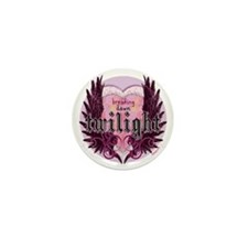 breaking dawn twilight heart wings pur Mini Button
