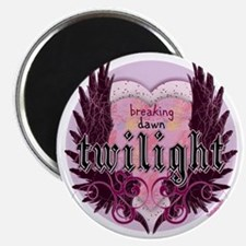 breaking dawn twilight heart wings purple c Magnet