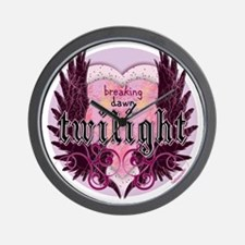 breaking dawn twilight heart wings purp Wall Clock