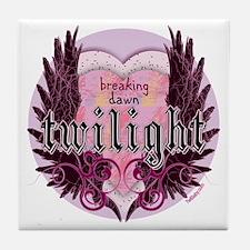 breaking dawn twilight heart wings pu Tile Coaster