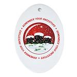 Remember Your Ancestors Oval Ornament
