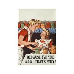 Vintage Mom Rectangle Magnet (10 pack)