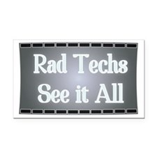 X-Ray Film: Rad Techs See it  Rectangle Car Magnet