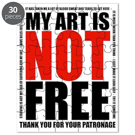 Art Not Free black Puzzle