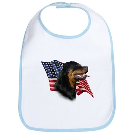 Rottweiler Flag Bib