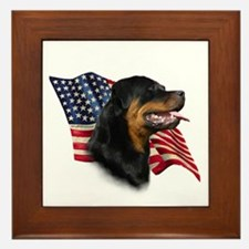 Rottweiler Flag Framed Tile