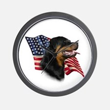 Rottweiler Flag Wall Clock