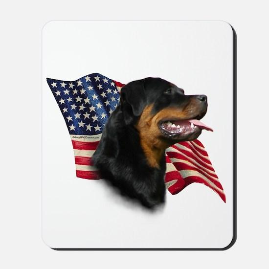 Rottweiler Flag Mousepad
