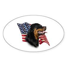 Rottweiler Flag Oval Decal