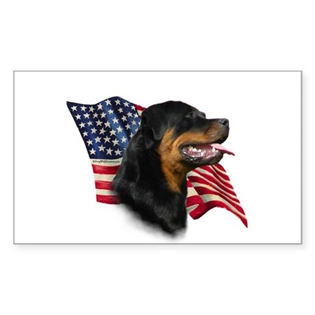 Rottweiler Flag Rectangle Sticker
