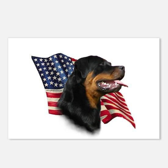 Rottweiler Flag Postcards (Package of 8)
