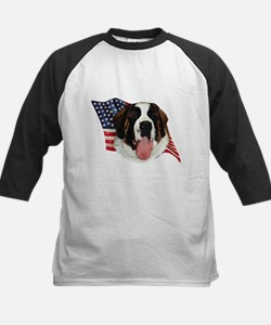Saint Bernard Flag Kids Baseball Jersey