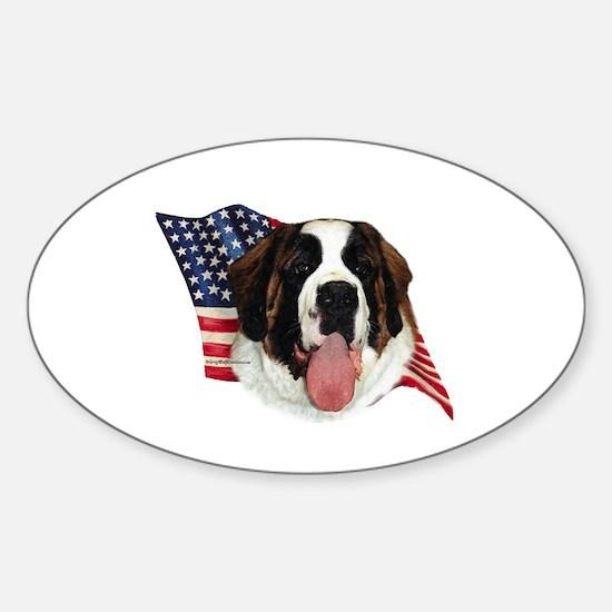 Saint Bernard Flag Oval Stickers