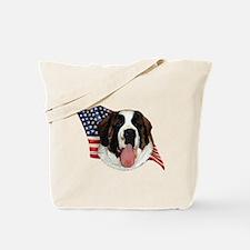 Saint Bernard Flag Tote Bag