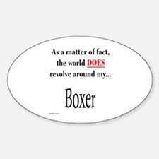 Boxer World Oval Decal