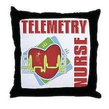 Telemetry Nurse Throw Pillow