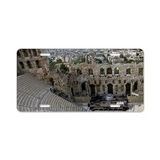 Acropolis. Ancient Theater  Aluminum License Plate