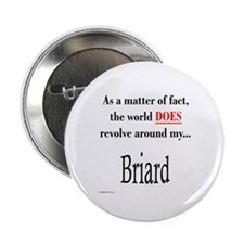 Briard World Button