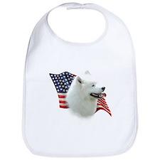 Samoyed Flag Bib