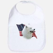 Samoyed Flag Bib