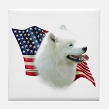 Samoyed Flag Tile Coaster
