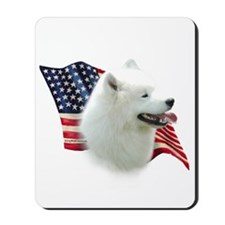 Samoyed Flag Mousepad