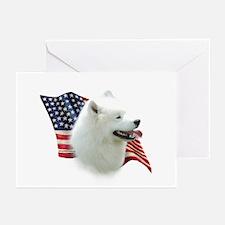Samoyed Flag Greeting Cards (Pk of 10)