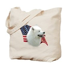 Samoyed Flag Tote Bag
