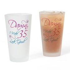 35th Birthday Humor Drinking Glass