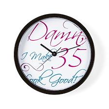 35th Birthday Humor Wall Clock