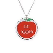 lilapple Necklace Circle Charm