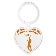 ratherbebasket3 Heart Keychain