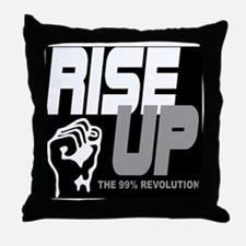 rise up the 99% revolution 1 Throw Pillow