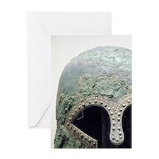 Bronze helmet of Corinthian style. 6 Greeting Card