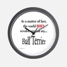 Bull Terrier World Wall Clock