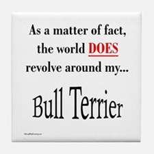 Bull Terrier World Tile Coaster