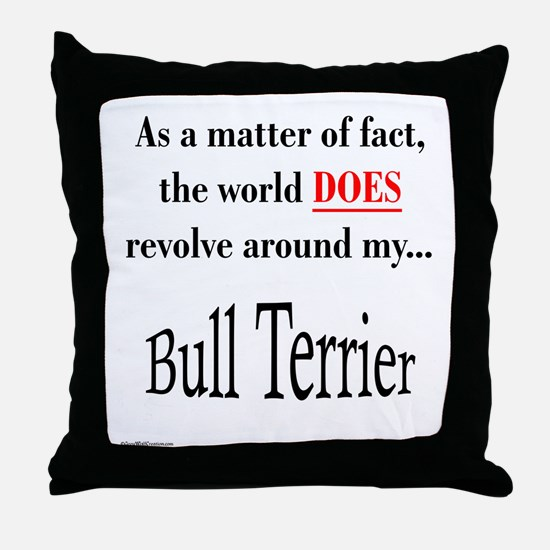 Bull Terrier World Throw Pillow