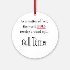 Bull Terrier World Ornament (Round)