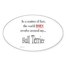 Bull Terrier World Oval Decal