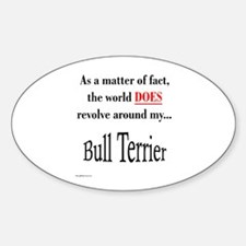 Bull Terrier World Oval Decal