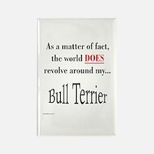 Bull Terrier World Rectangle Magnet