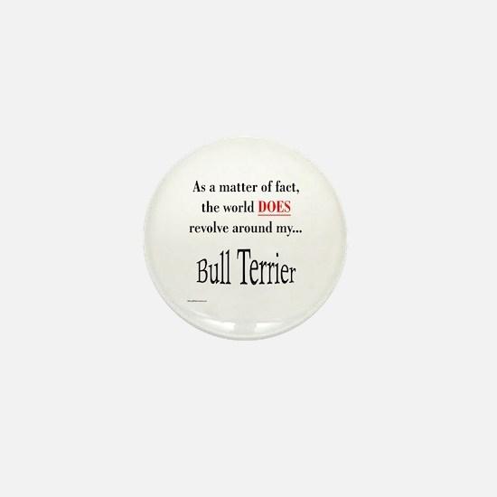 Bull Terrier World Mini Button